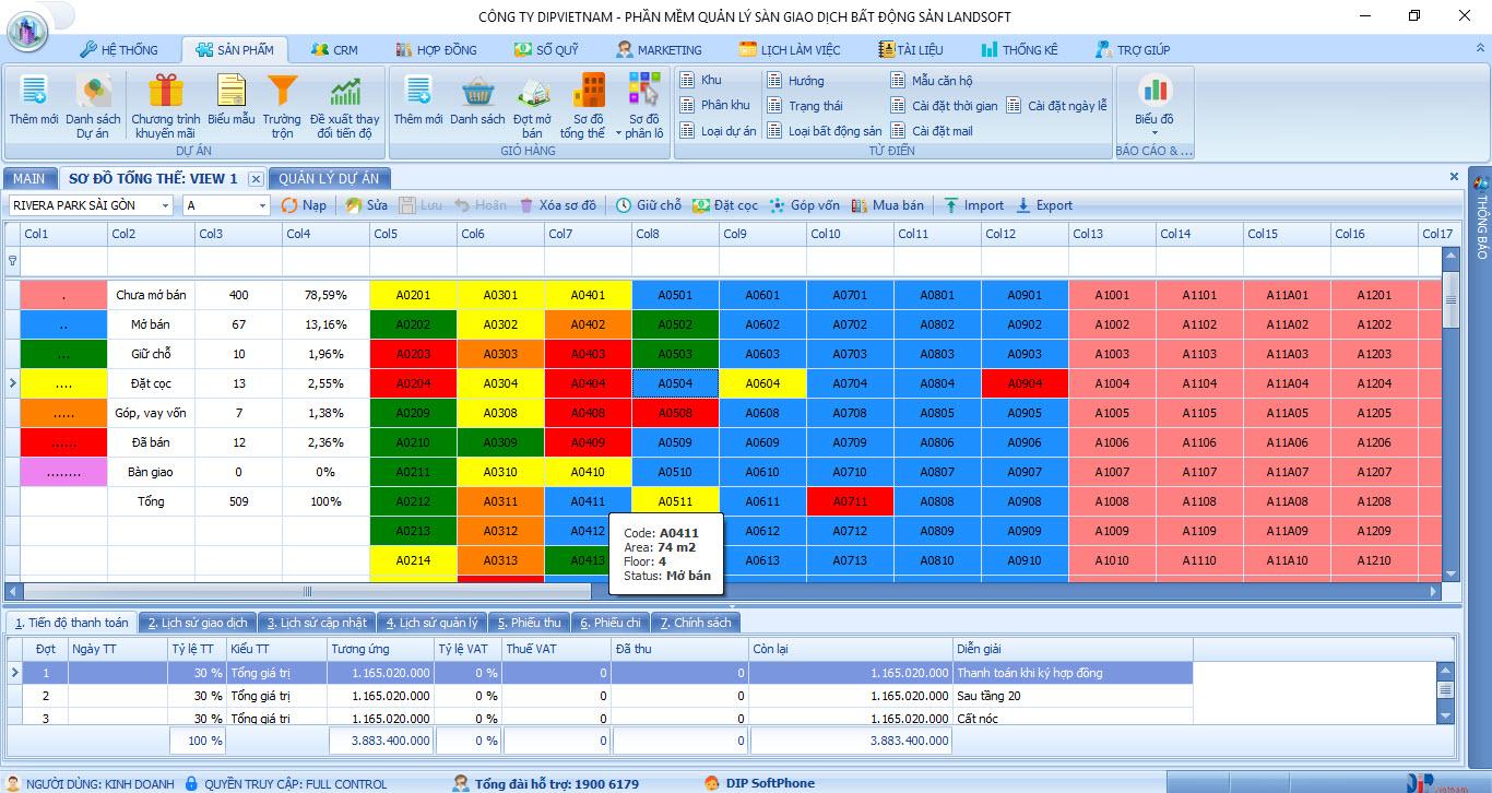 phần mềm quản lý bđs